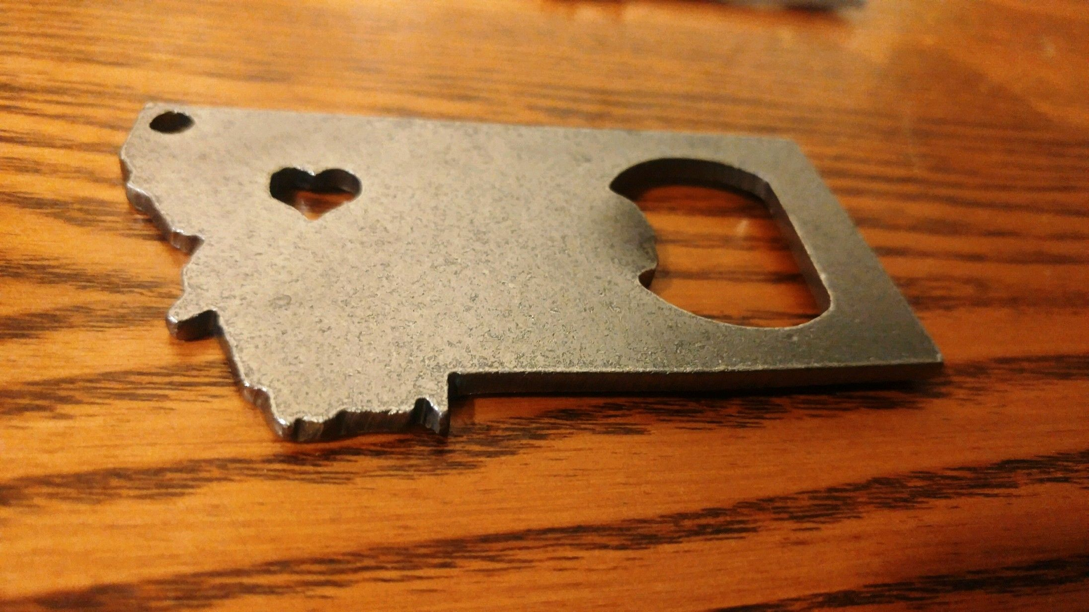 Buy A Custom State Montana Mt Recycled Metal Bottle Opener Key Chain