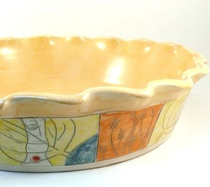 Custom Made Quiche Or Tart Baking Dish, Pie Plate / Pie Baking Pan