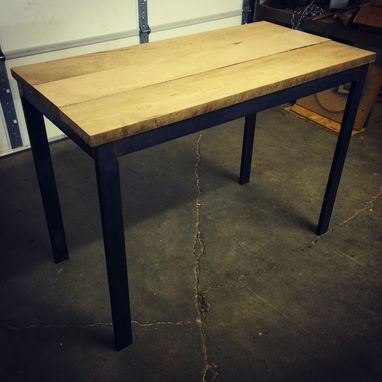 custom modern industrial small two or four person dining table by cauv design llc. Black Bedroom Furniture Sets. Home Design Ideas