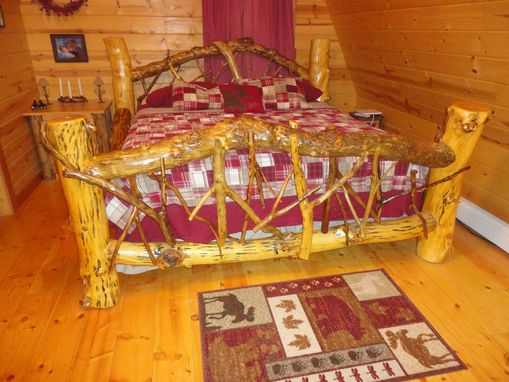 Custom Made Rustic Log Bed