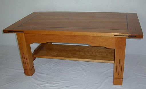 Custom Made Arts And Crafts Cherry Coffee Table