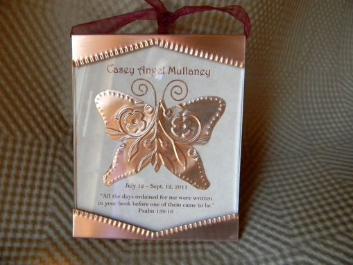 Custom Made Butterfly Memorial Ornament