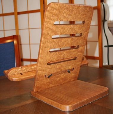 Custom Made Reading Stand In White Oak (Arts And Crafts Style)