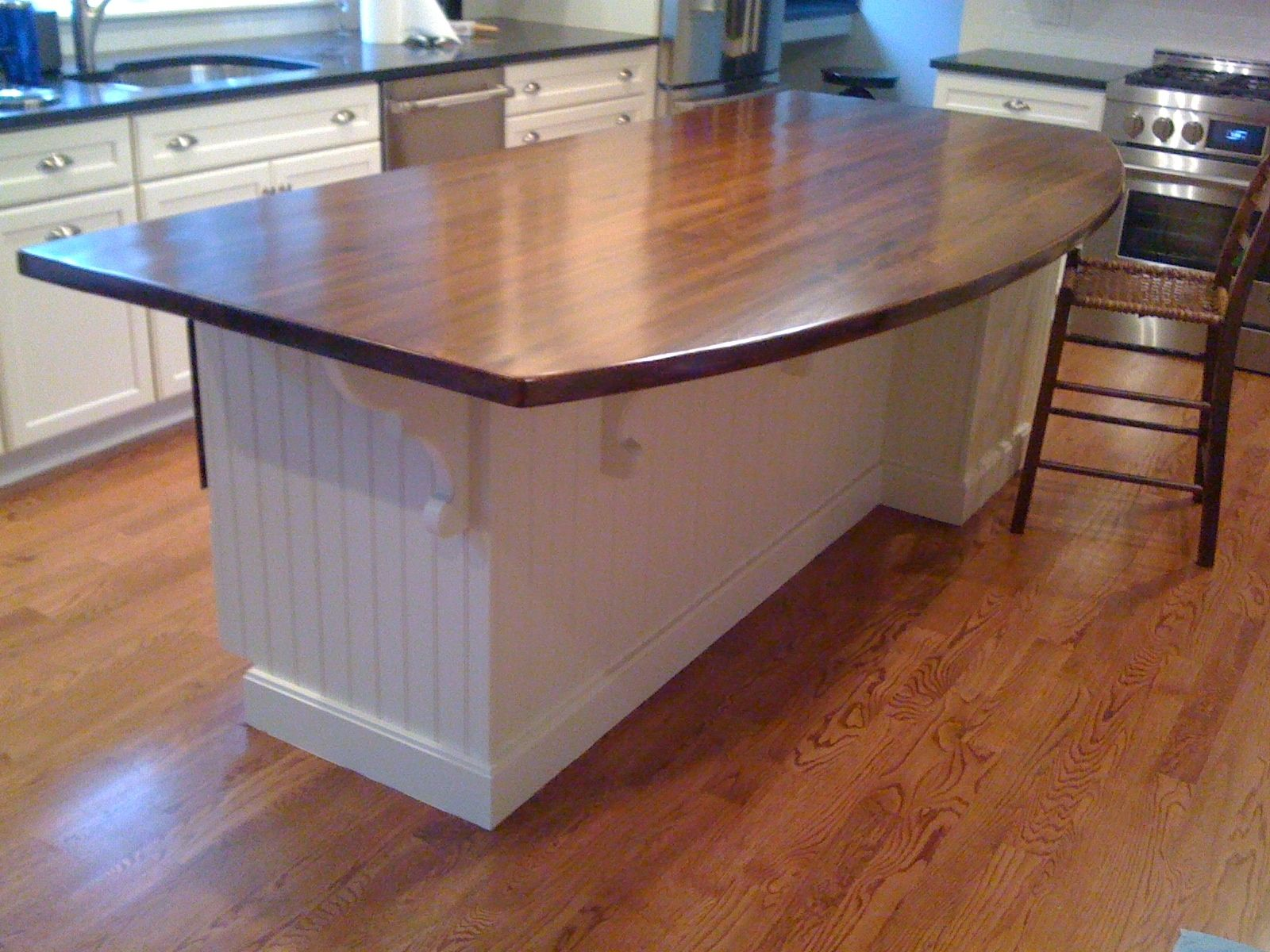 custom antique reclaimed southern yellow pine wood island top by