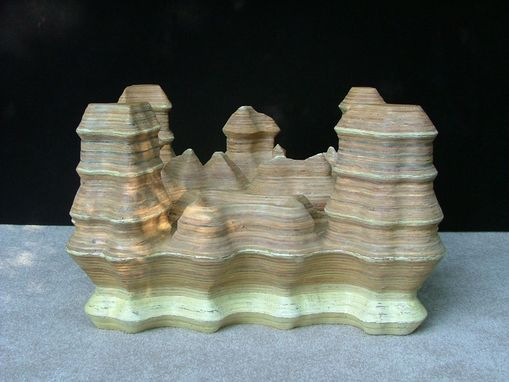 Custom Made Canyon Of Lakes And Rivers Occasional Table