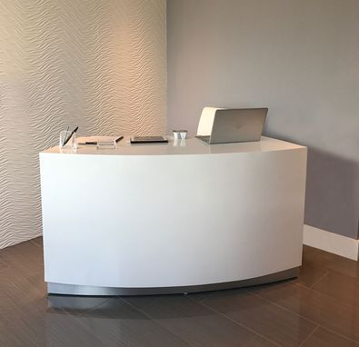 Custom Made Seattle Curved Reception Desk