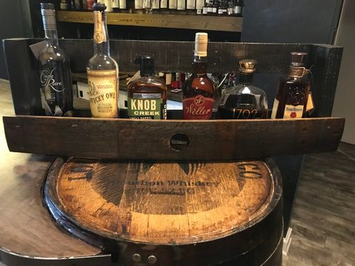 Custom Made Whiskey Bourbon Barrel Stave Bar Back Shelf