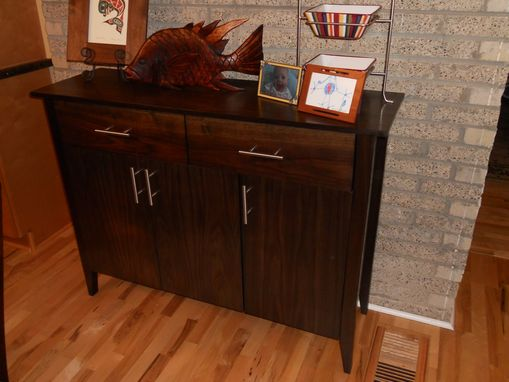 Custom Made Walnut Sideboard Cabinet