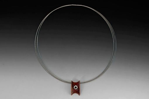 Custom Made Anti-Clastic Copper Wheel Necklace, Hand Fabricated Sculptural Pendant