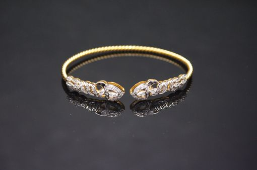 Custom Made Spearhead Diamond Cuff Bracelet