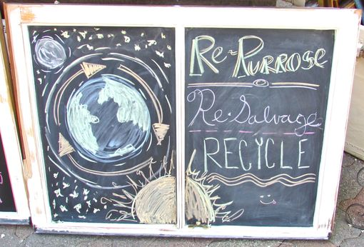 Custom Made Repurposed Chalkboards Made From Recycled Windows