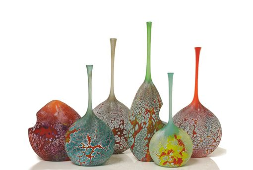 Custom Made Elemental Series:  Hand Blown Glass Vessels