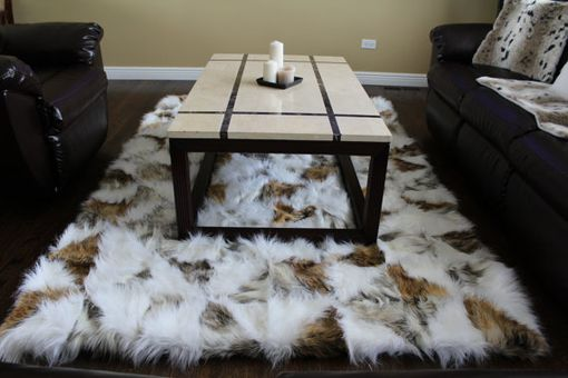 Custom Made 5'X7' Canadian Fox Faux Fur Accent Area Rug