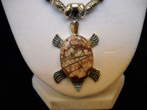 Custom Made Jasper Turtle Necklace