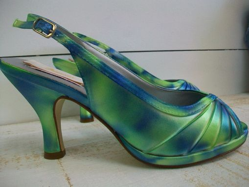 Wedding Shoes Tie Dyed