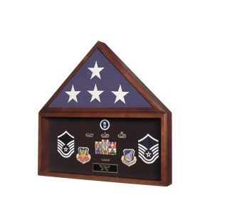 Custom Made Flag And Document Frame