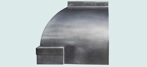 Custom Made Pewter Range Hood With Steel Straps & Zinc Clavos