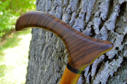 Custom Made Walking Cane/ Walking Stick Made Of Amazakoue, African Blackwood, Brazilian Teak 36 1/2