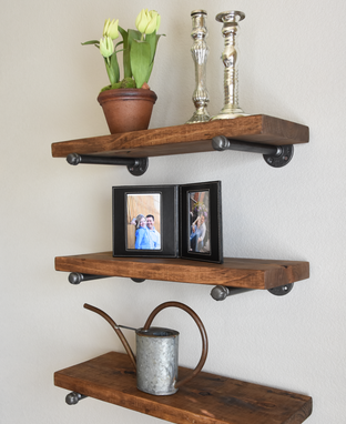 Custom Made Industrial Rustic Floating Shelf