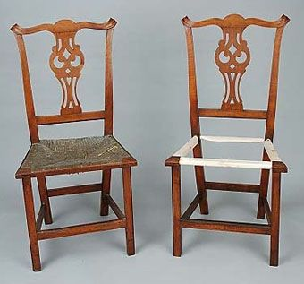 Custom Made Country Chippendale Side Chair