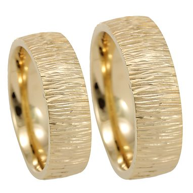 Custom Made Hammered Wedding Band In 14k Yellow Gold, Comfort Fit Promise Ring