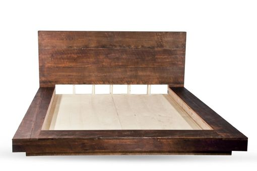Custom Made Heart Pine Platform Bed