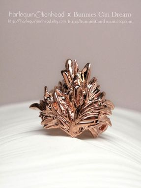 Custom Made Whirls Collection - No. 2 Ring Rose Gold Plated