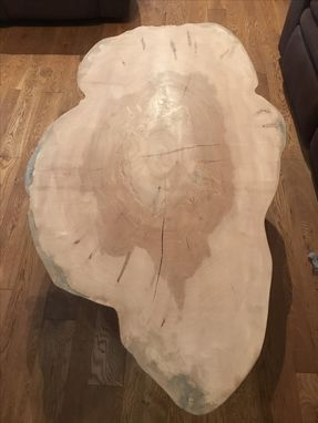 Custom Made Live Edge Maple Coffee Table