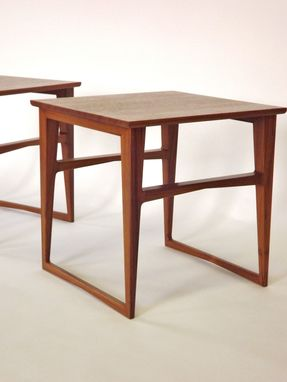 Custom Made Danish Teak End Tables