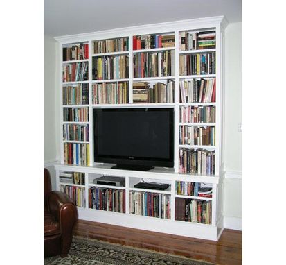Custom Made Widescreen Tv Cabinet / Library