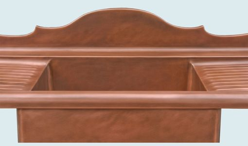 Custom Made Copper Sink With French Backsplash & Drainboards