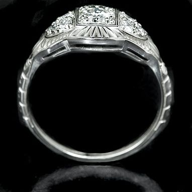 Custom Made Vintage 0.40ct Diamond Ring Cocktail Engagement