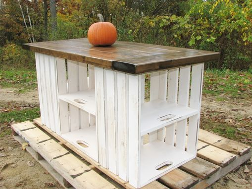 Custom Made Rustic Country Kitchen Island