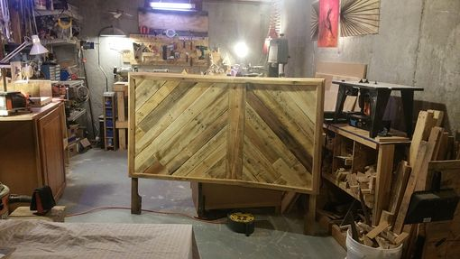 Custom Made Reclaimed Wood Headboard