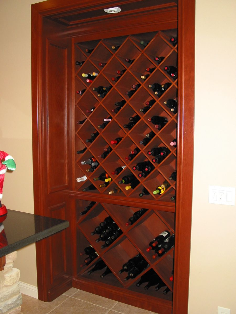 Custom cherry built in wine cabinet by haas distinctive woodworks llc - Custom made cabinet ...