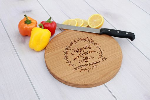 Custom Made Personalized Cutting Board, Engraved Cutting Board, Custom Wedding Gift – Cbr-Wo-Happilyeverafter
