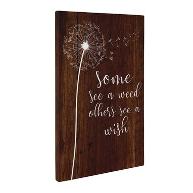 Custom Made Some See A Weed Others See A Wish Canvas Wall Art