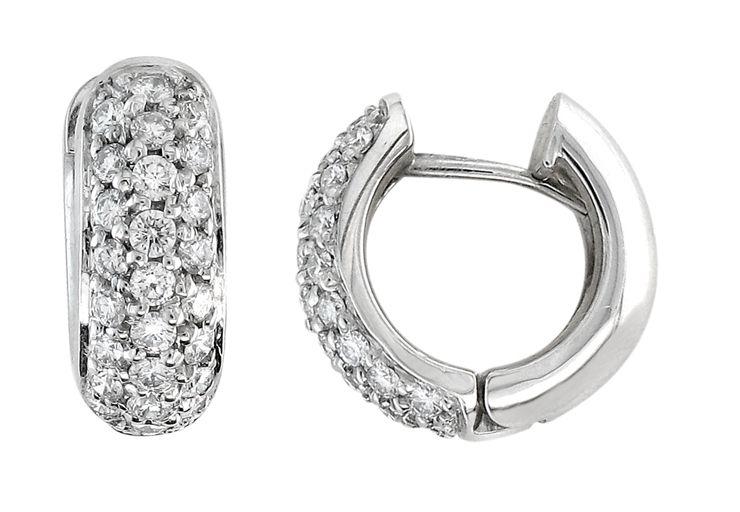 Custom Made Pave Earrings Diamond Huggies