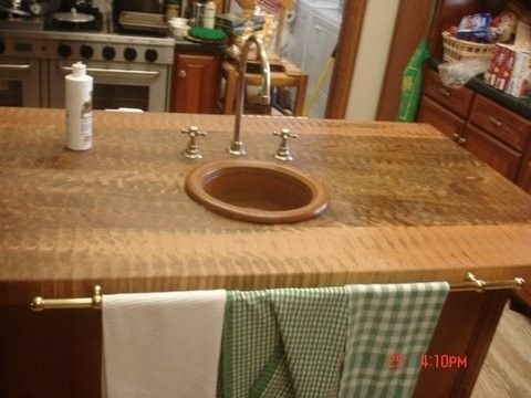 Custom Made Spalted Maple End Grain Butcher Block Island Top