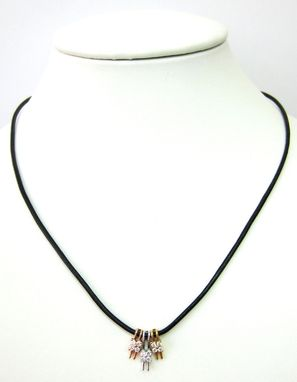 Custom Made .25ct Tri-Colored Diamond Necklace - Solid 14k Gold
