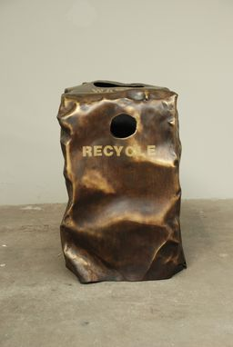 Custom Made Trash Receptacle