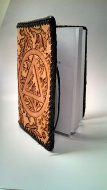 Custom Made Hand Tooled Leather Cover For Pocket (Trucker) Size Alcoholics Anonymous