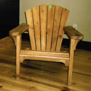 Custom Made Barrel-Back Adirondack Chair