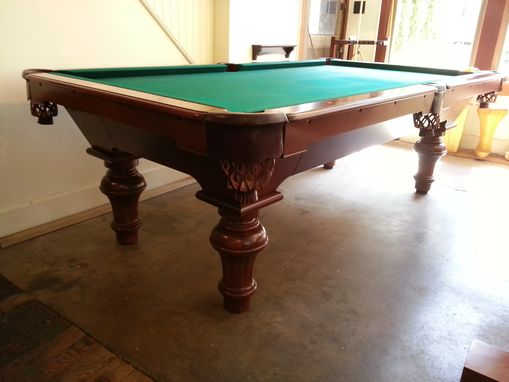 Custom Made 8' Convertible Carom - To - Pocket Billiards Pool Table.