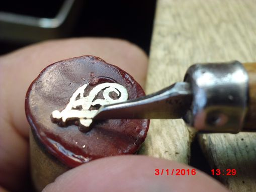 Custom Made Hand Sawed 14k Fn Monogram Then 3-D Hand-Carved Dangling Earrings