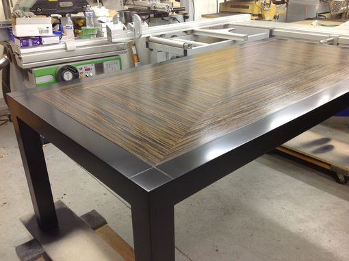 Custom Made Maple And Macasser Ebony Dining Table