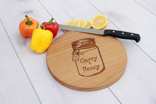 Custom Made Personalized Cutting Board, Engraved Cutting Board, Wedding Gift – Cbr-Wo-Gary Nancy Mason Jar