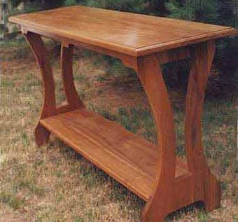 Custom Made Solid Walnut Serving Table