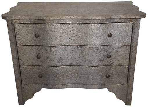 Custom Made Gina Small Distressed Zinc Dresser