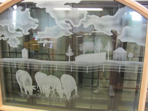 Custom Made Etched Glass For Bedroom, Kitchen, Pantry, Interior Doors Or Windows